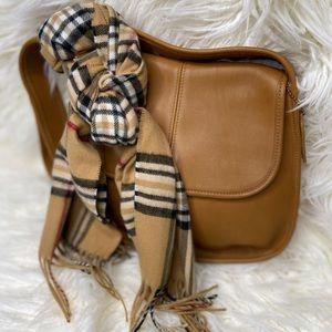 Vintage tan coach messenger bag